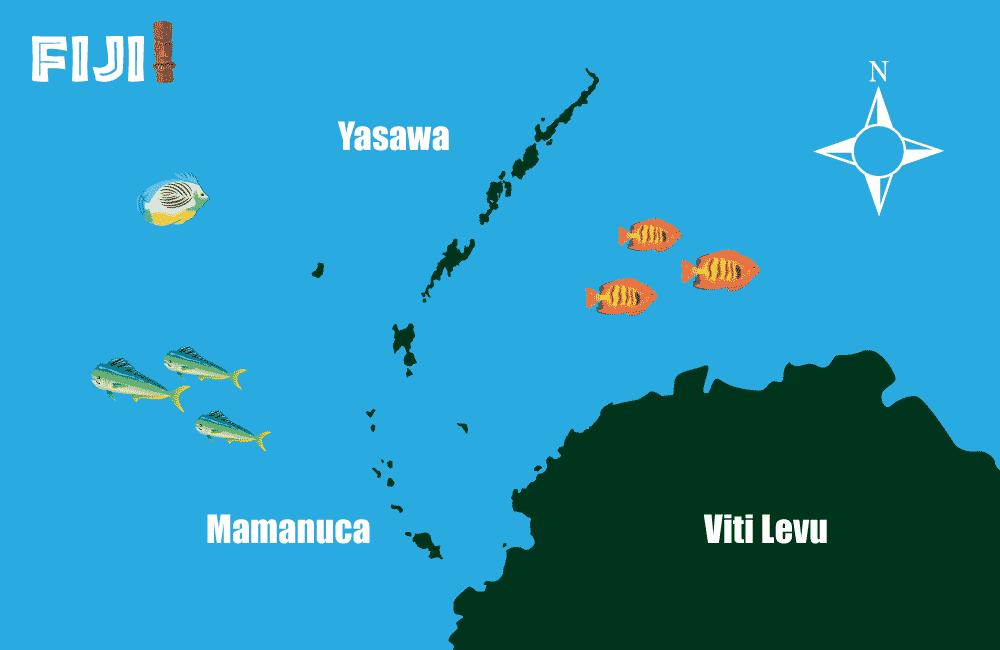 fiji islands map