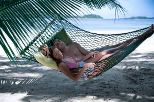 relaxing on a Yasawa island vacation
