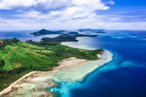 Yasawa Island chain from the Air