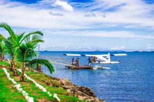 Flying into Fiji
