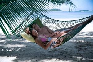 relaxing on a Yasawa island vacation
